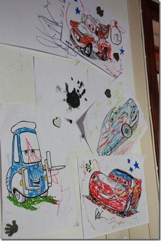 cars drawings decor party
