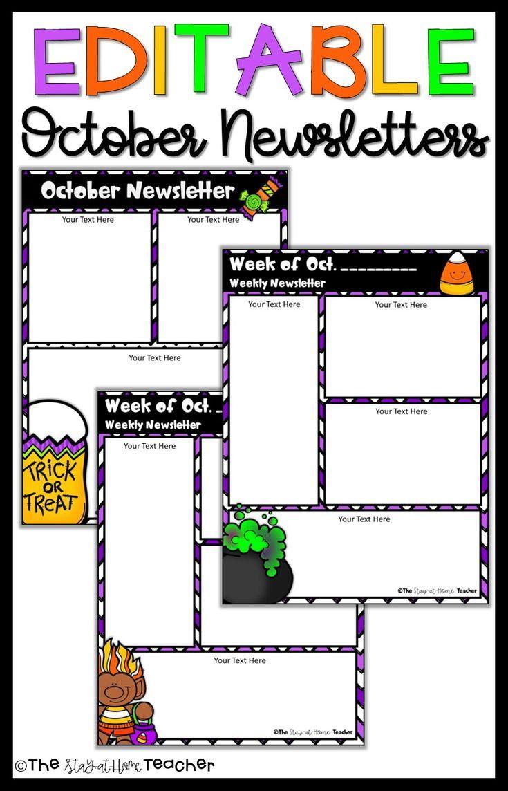 729e2d501b041faf95f5f8c43ec4693a Teacher Pay Free Newsletter Template For Halloween on