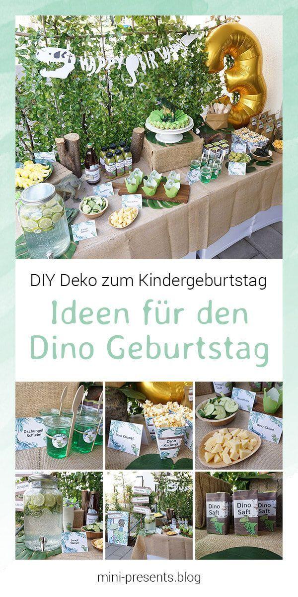 Do-it-yourself Party Deko für eine Dino Party zum Kindergeburtstag – Kinderfeste & Co.