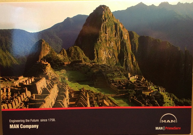 A photo of the cover from the invitation to the Inauguration of MAN PrimeServ Peru January 22nd 2013