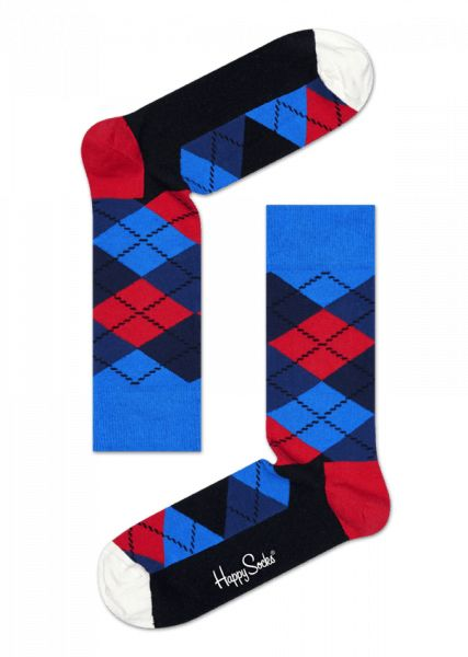 Get your classic style on with a pair of Argyle socks! A fresh look on an old favorite, these red, white, blue and black socks feature the lively pattern many have come to know and love. Crafted from the fine, combed cotton, our colorful argyle socks is a stylish treat for your feet. Sizes available for women and men.