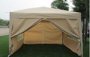 EZ Pop Up Wedding Party Tent Folding Gazebo Camping Canopy w Sides Carry Bag | eBay