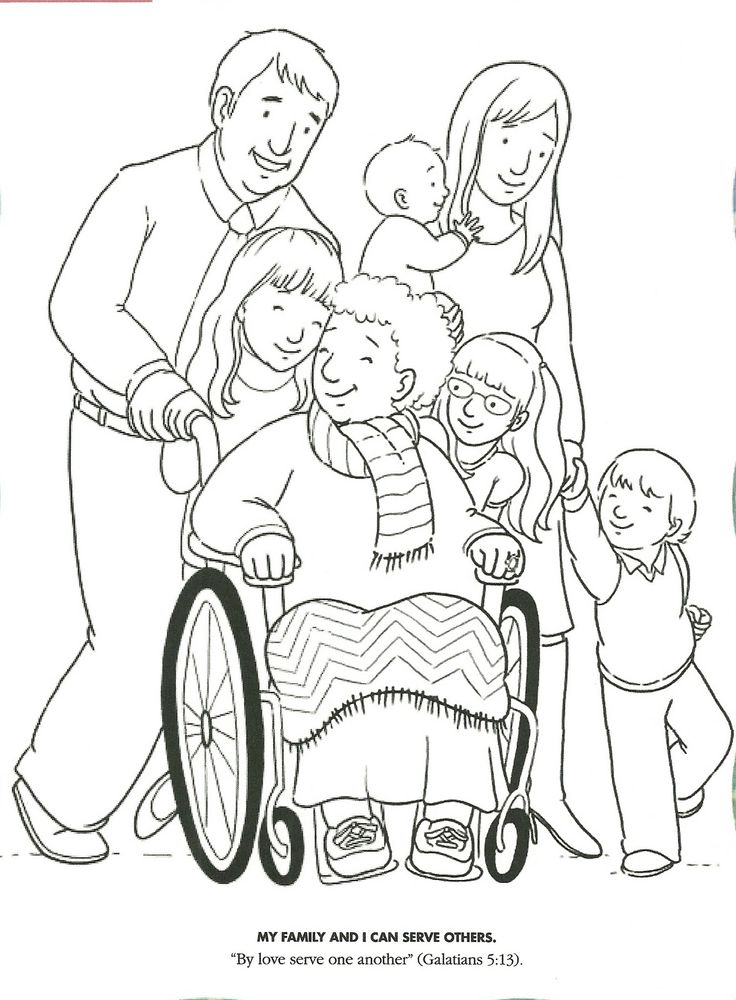 LDS Primary Coloring Pages | coloring page serving and showing love from The Friend, October 2008 ...
