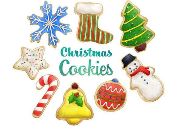 Christmas Cookie Clipart.Christmas Cookies Clipart Instant Digital Download Sugar
