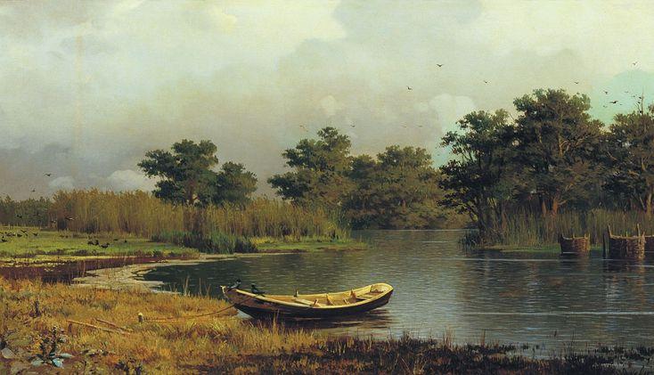 Судковский Руфин Гаврилович (1850 - 1885) - Берег реки. Лодка, 1881