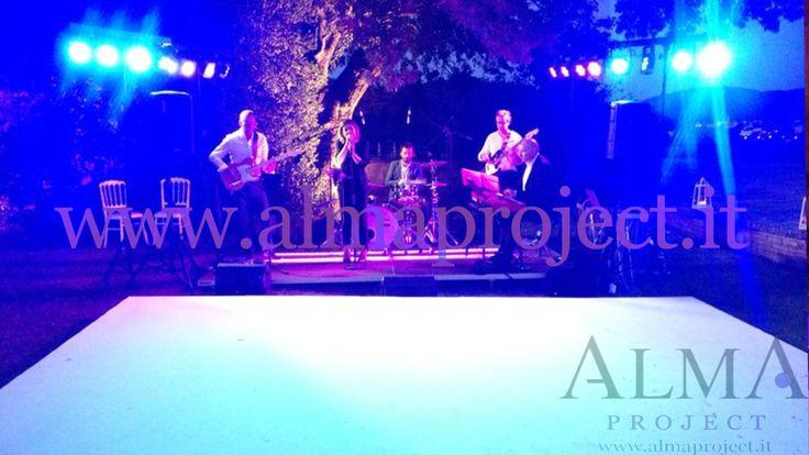ALMA PROJECT @ Villa di Maiano - White Dancefloor - LS band - small light system - stage 332