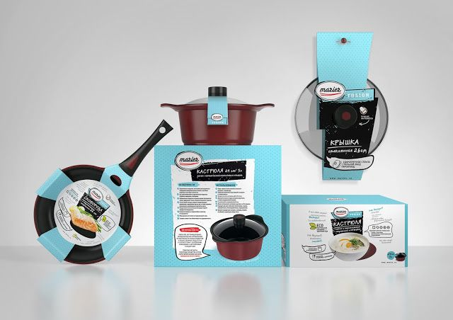 Marier on Packaging of the World - Creative Package Design Gallery  Cookware packaging