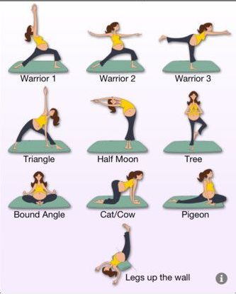 prenatal yoga warrior poses