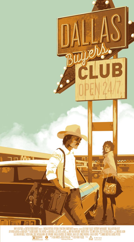 "Affiche originale Mondo ""Dallas Buyers Club"" par Matt Taylor (02/28/14) numérotée. Taille 20""X36"". Regular 325 exemplaires au monde. @asgalerie #Asgalerie #MattTaylor #Mondo #DallasBuyersClub."