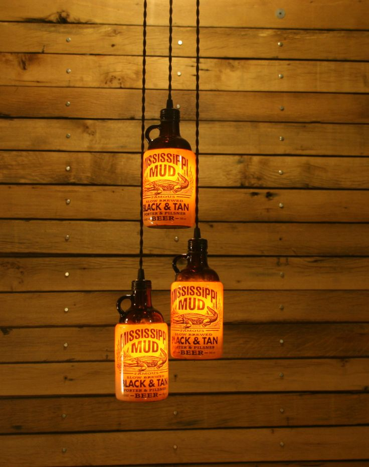 The Ultimate Beer Bottle Pendant Light - Bar Light - Bar Room Light Fixture. $54.00, via Etsy.