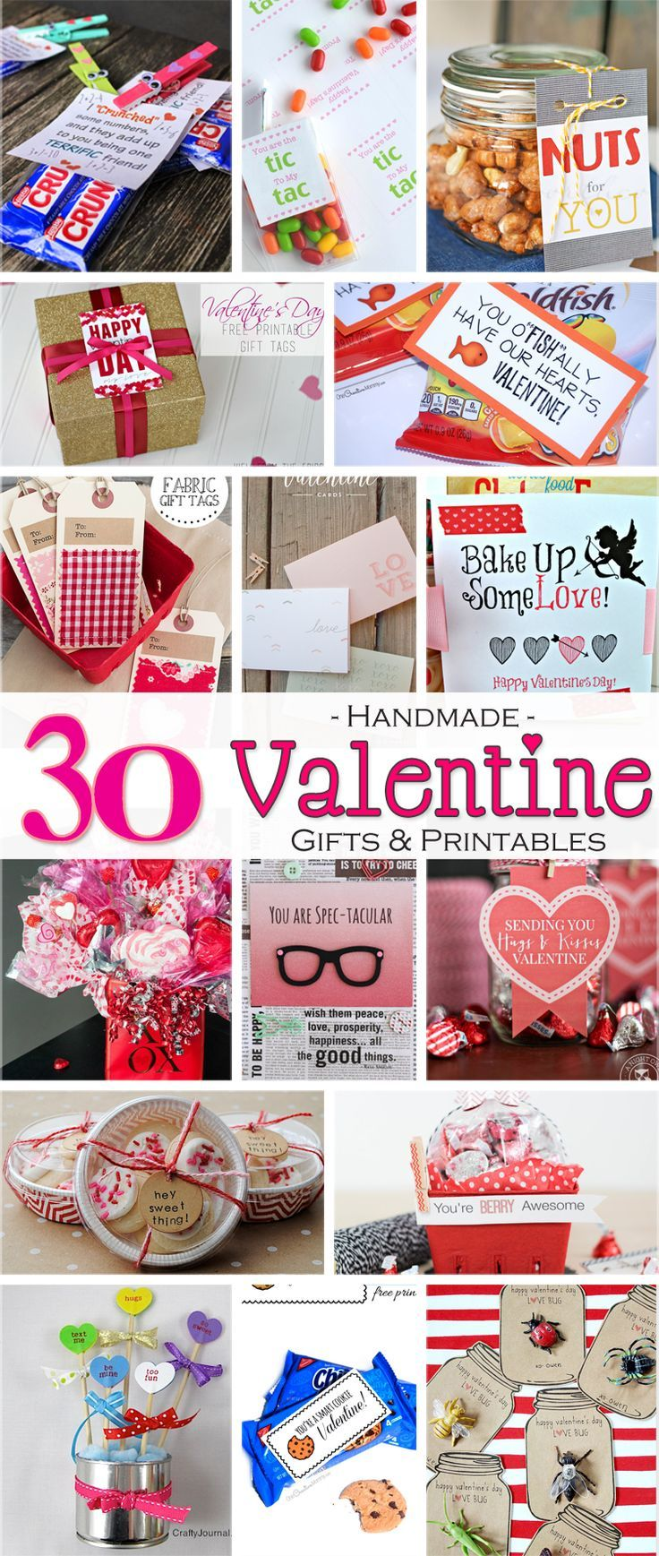 30 Handmade Valentine Gift Ideas and Free Printables