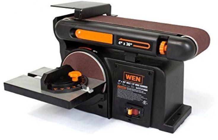 Sanding Machine 4 X 36-Inch Belt And 6-Inch Disc Sander Cast Iron Base 4.3 Amp #WEN
