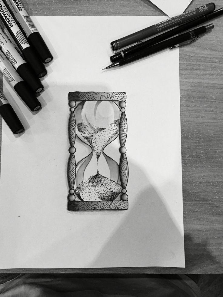 Dessin de sablier Drawing hourglass Plus