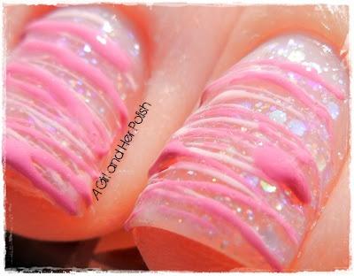 Just drip nail polish back and forth on nails
