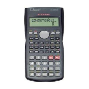 CALCULADORA KENKO KK-82 MS5.  Calculadora científica com boa qualidade e preço do competidor.    Dois linha 10+2 exposição dos dígitos,  2xAA a pilhas.  Tamanho: 155x82x19 (milímetro).
