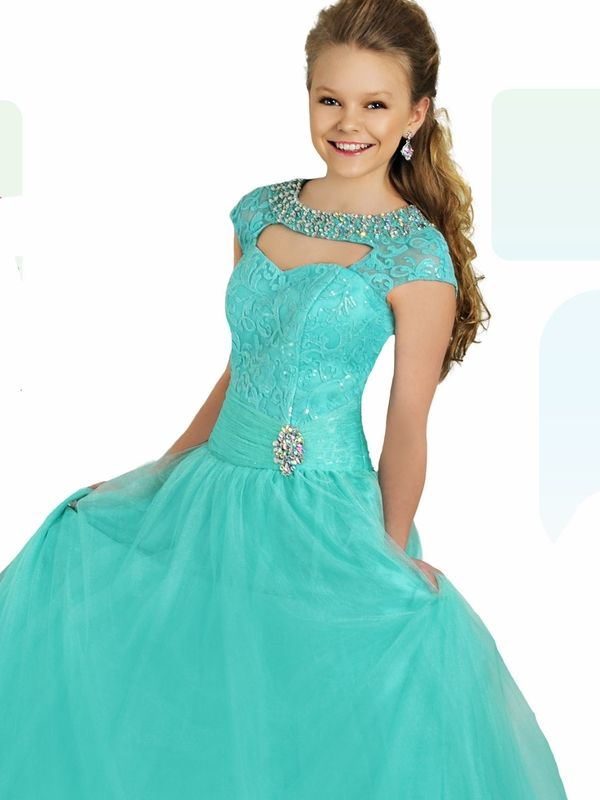 Blush Pink Ritzee Tween Pageant Gown T701|PageantDesigns.com