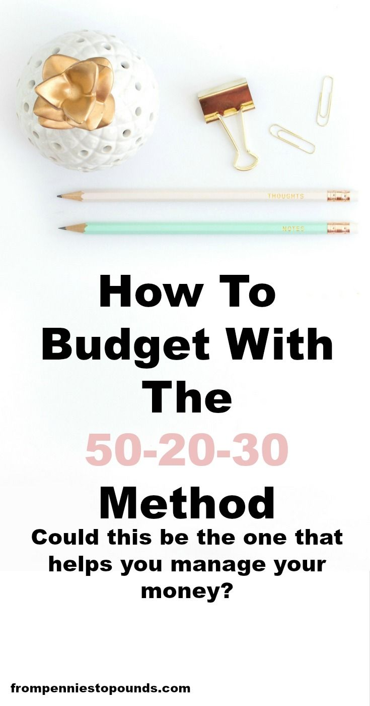 How to budget with the 50-20-30 method. This will help you save money and make money. Could this be the rules that can help you manage your money? http://www.frompenniestopounds.com/budget-502030-rule-sort-finances/