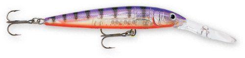 Rapala Down Deep Husky Jerk 12 Fishing lure, 4.75-Inch, Glass Purple Perch Deep Diving Lip. Suspending. Long-Casting. Loud Rattles. Premium VMC Black Nickel Hooks.  #Rapala #Sports
