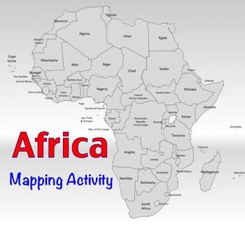 africa map labeling activity