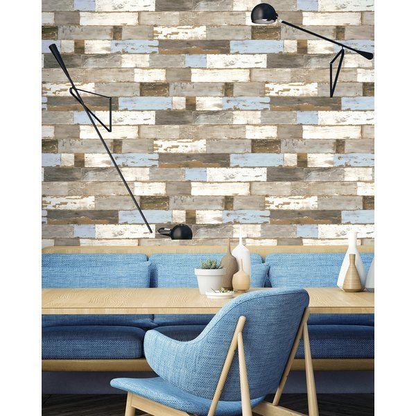 Dayanara Shiplap 18 L X 20 5 W Peel And Stick Wallpaper Roll Peel And Stick Wallpaper Wallpaper Roll Shiplap