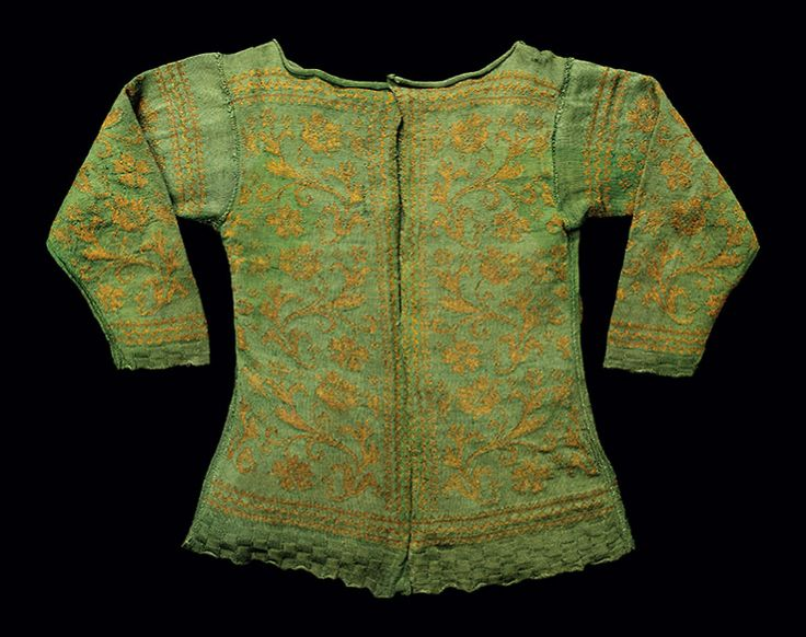 Woman's knitted silk and silver-gilt jacket, c. 1630-50, probably Italian.