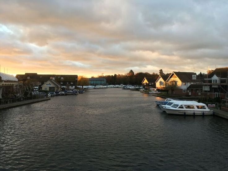 River Bure, Wroxham on the right, Hoveton on the left.