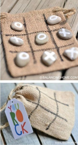 DIY Tic Tac Toe for a pleasant past-time game for dadd