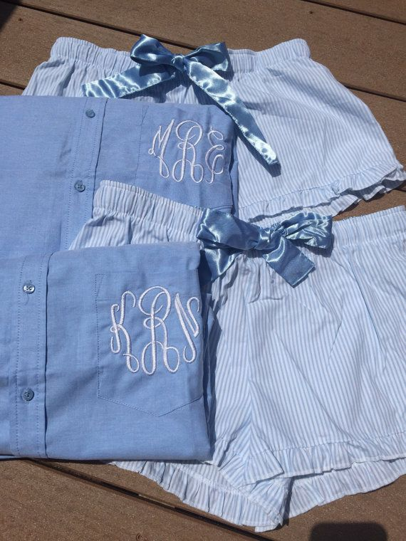 Monogrammed Oxford Shirt and Boxer Set / by DoodleDMonograms