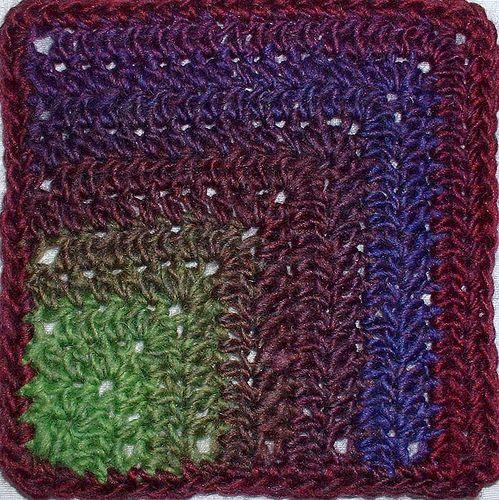 HDC Mitred Square ~ free pattern