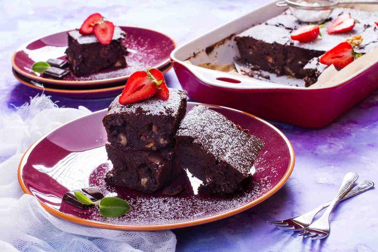 Brownie z fasoli i orzechów #smaczastrona #przepisytesco #fasola #brownie #orzechy