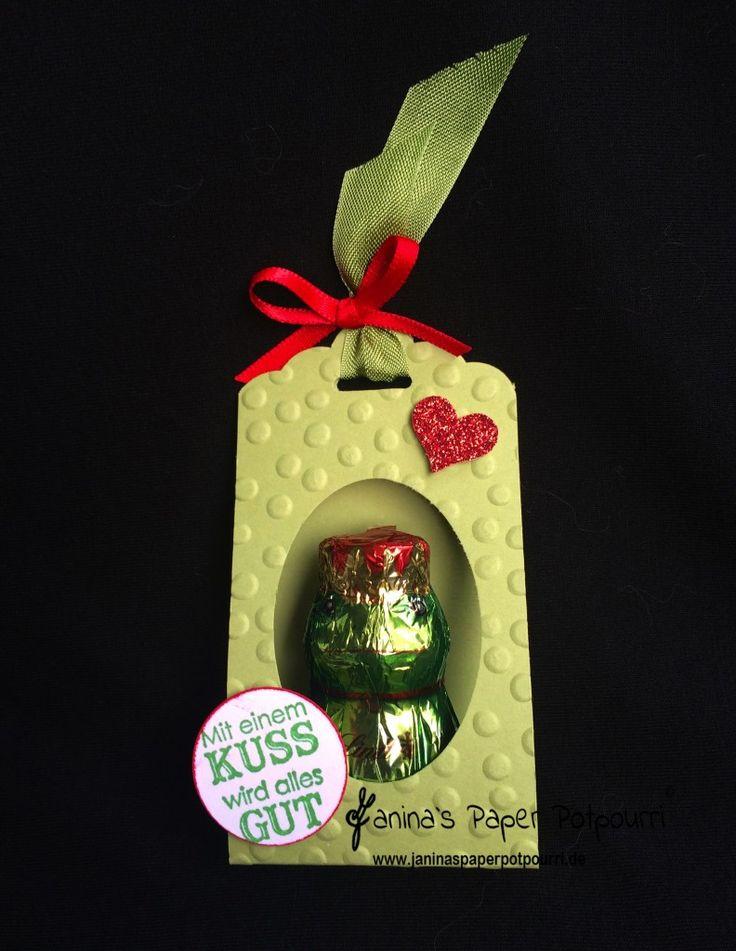 jpp - Traumprinz to go / Valentine's Goodie / Mitbringsel / Liebe / Love / Frosch / Froschkönig Verpackung / Kuss/ Kiss Frog / Stampin' Up! Berlin / Perfektes Pärchen / Gewellter Anhänger  www.janinaspaperpotpourri.de