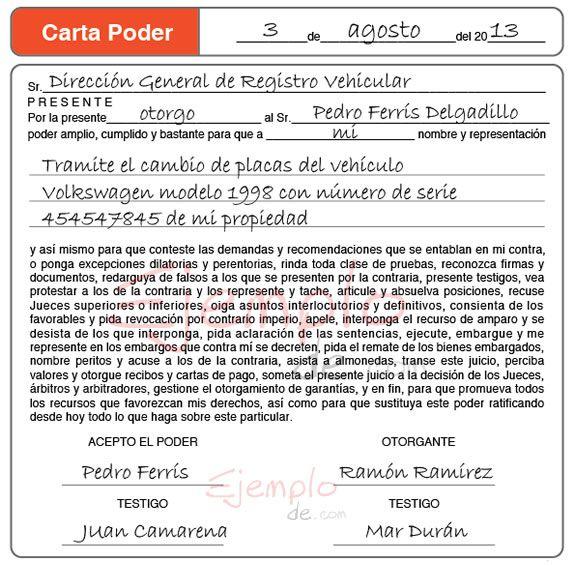 Carta poder espa ol 2 bloque v pinterest d wb and lc for Solicitud de chequera