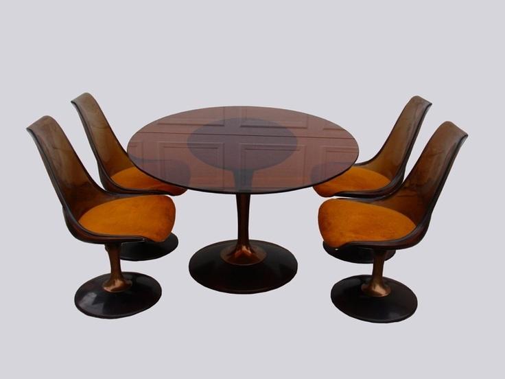 Vintage saarinen mid century modern lucite tulip dining for Lucite kitchen table