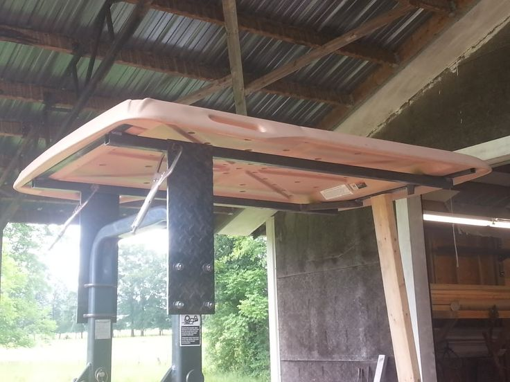just made a canopy out of an old golf cart top