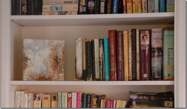 a small painting as part of a tablescape or in a bookshelf: Bookshelves, Gift, Decor Ideas, Inspiration, Art, Small Paintings, Things, Tiny Paintings, Baker