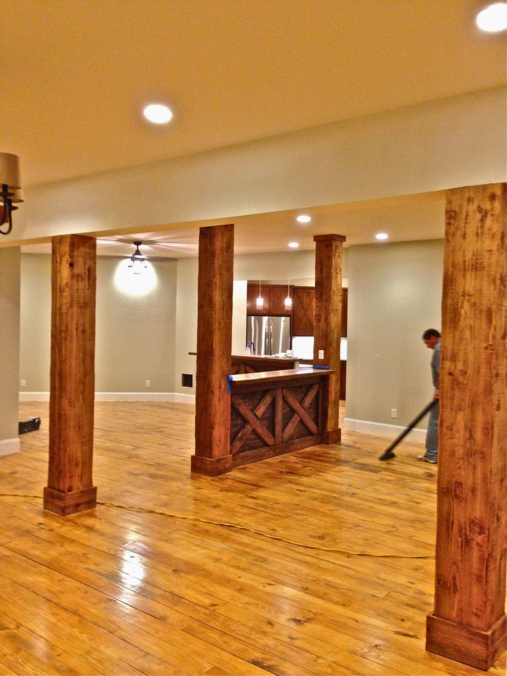 Unique Support Columns In Basement