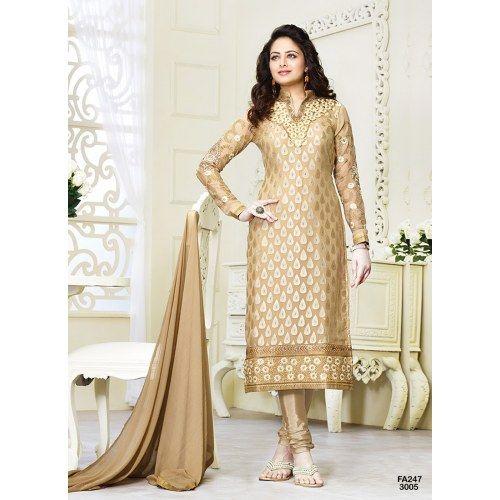 New Fashion cream Designer Salwar suit
