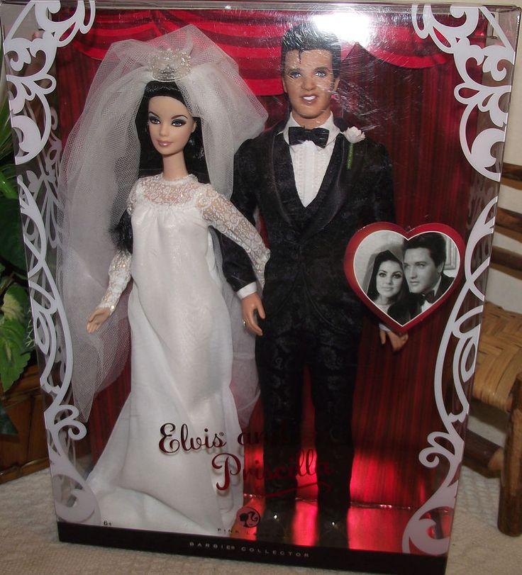 "MIB MATTEL ""ELVIS AND PRISCILLA BARBIE WEDDING GIFT SET"