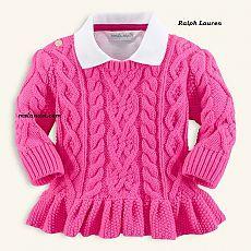 Пуловер для девочки от Ralph Lauren | Вяжем с Ms Lana Vi