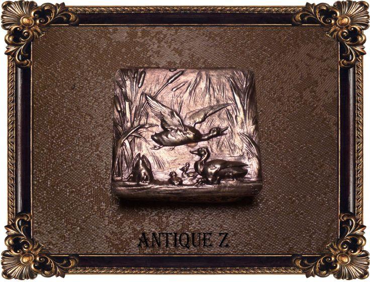 Rare!!! 19th century Art Nouveau pill/snuff box, copper/brass/bronze, Victorian, antique by AntiqueBoutiqueZ on Etsy