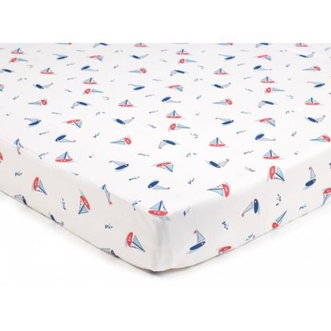 Breathablebaby Super Dry Cot Bed Sheets In Seaside Pack Of