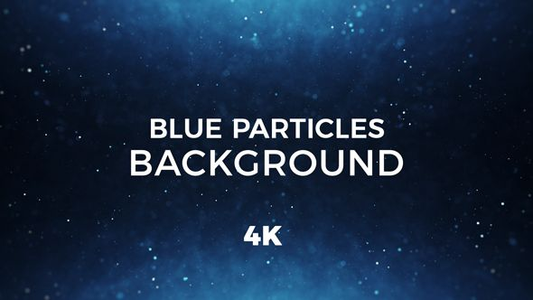 Blue Particles Background 4K by _miko_  Blue Particles Background 4K Use it to enhance video presentation, event or motion graphics project. Ideal for displaying your logo, titles with original and stylish way! Features:Resolution:4K ¨C 3840x2160QuickTime with Photo JPEG codec25 Frames per second20 second loopMusic used to preview is not