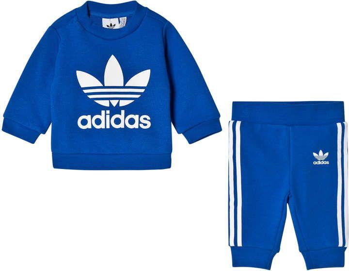 Adidas Originals Blue Logo Infants Sweater and Joggers Set