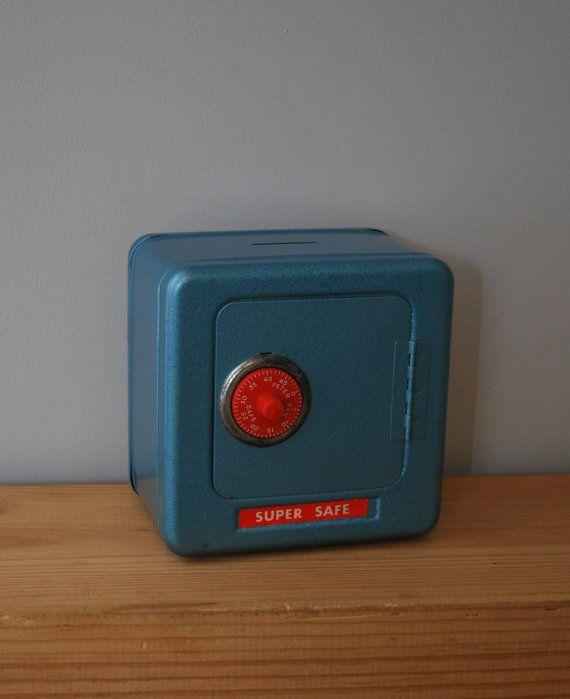 vintage toy safe money box by LostPropertyVintage, £15.00