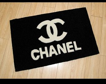 Chanel Set Shower Curtains | Chanel Coco CC Logo Inspired Rectan gular Shape Handmade Black & White ..