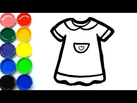 Cara Menggambar Dan Mewarnai Baju Dress Untuk Anak Anak Di 2020