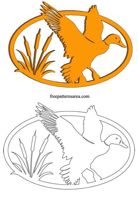 Duck Silhouette Vector Free Scroll Saw Pattern Woodwork