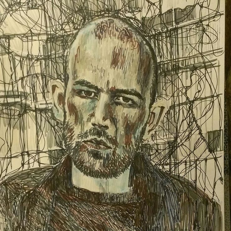 # #portrait #picture #pen drawing # author of Gommorah #Roberto Saviano #