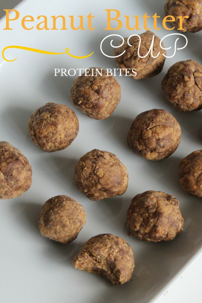Peanut Butter Cup Protein Bites - Your Trainer Paige
