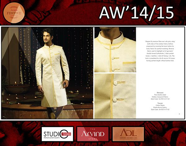 This is a men's wear collection for covering all the wardrobe essential's as the magnificent festive season has approached. It covers Indo-western & western look by covering garments like Sherwani / Kurta / Nehru collar coat / coat / Jacket / dress shirt / tunic / stylized trouser / etc.